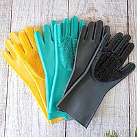 Универсальные многофункциональные перчатки для уборки Super Gloves №21 в пакете Оригинальные фото
