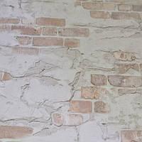 Обои, светлые, кирпич, на стену, виниловые, супер-мойка, 0,53*10м, ограниченное количество, фото 1