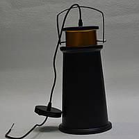 Люстра подвес 1 лампа черная
