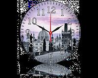 Годинник-картина 33 см, без скла, місто