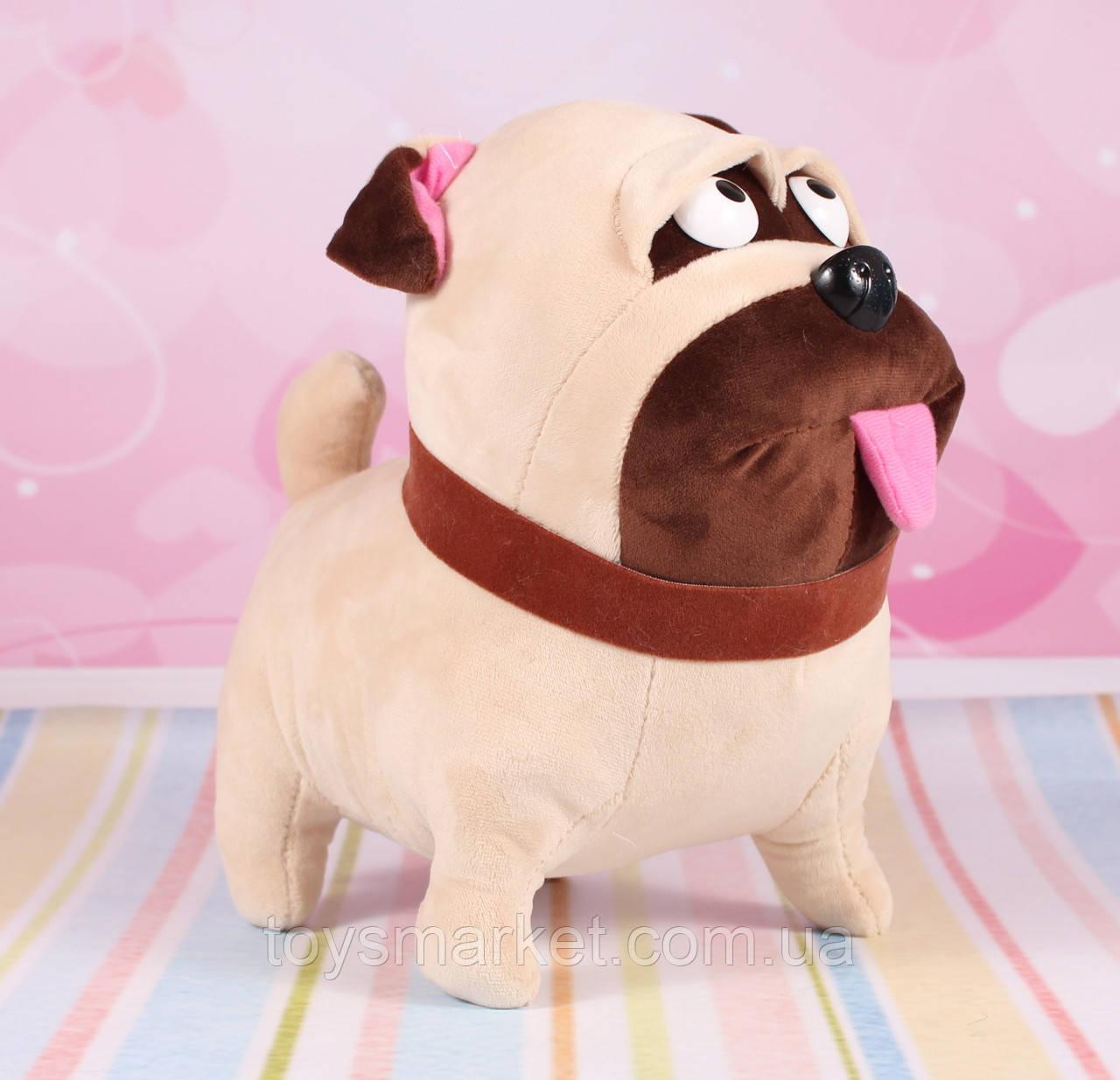 """Мягкая игрушка мопс Мэл, """"Тайная жизнь домашних животных"""", 25 см."""