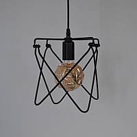 Люстра подвес металлическая в стиле Лофт черная 1 лампа