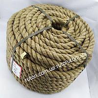 Канат мотузка джутова 20 мм х 50 м - пенька - Україна