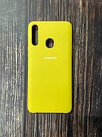 "Чехол Samsung A21s №9 ""Желтый"" Silicon Case"