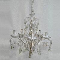 Люстра свічники біла металева 5 ламп