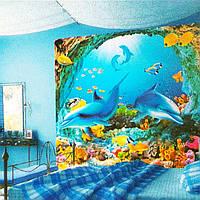 Фотообои, город, детские дитячі  Дельфины размер 196смХ210м, 12 листов