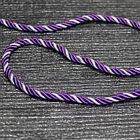 Шнур декоративный для натяжных потолков, фиолетовый серебро, 11 мм