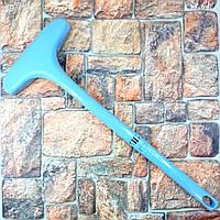 Хозяйственная универсальная щетка для чистки одежды, мебели и ковров Cleaning brush голубая Оригинальные фото
