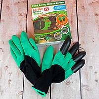 Перчатки грабли для сада и огорода с когтями GARDEN CLOVE Перчатки для рыхления Живые фото