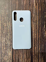 "Чехол Samsung A21s №9 ""Кремово-лиловый"" Silicon Case"