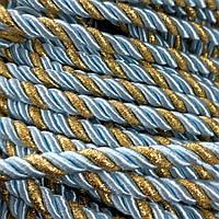 Шнур декоративный для натяжных потолков, голубое золото, 10 мм