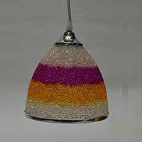 Люстра подвесная  разноцветная 1 лампа