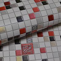 Обои, красные, на стену, квадраты, виниловые, B49.4 Клеточка 5584-10, супер мойка, 0,53*10м, фото 1