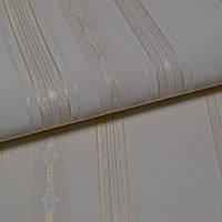 Обои для стен шпалери світлі полоси винил на флизелине горячего тиснення 1,06*10м
