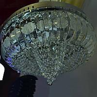 Люстра серебро хрусталь 4 лампы