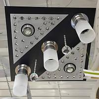 Люстра хрустальная пульт LED 3 лампы