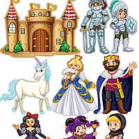 Наклейка, сказка, принцесса, детская дитяча интерьерная Label №22
