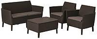 Набор мебели, Salemo set, коричневый