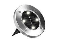 Уличные фонари на солнечной батареи Disk lights 4 штуки