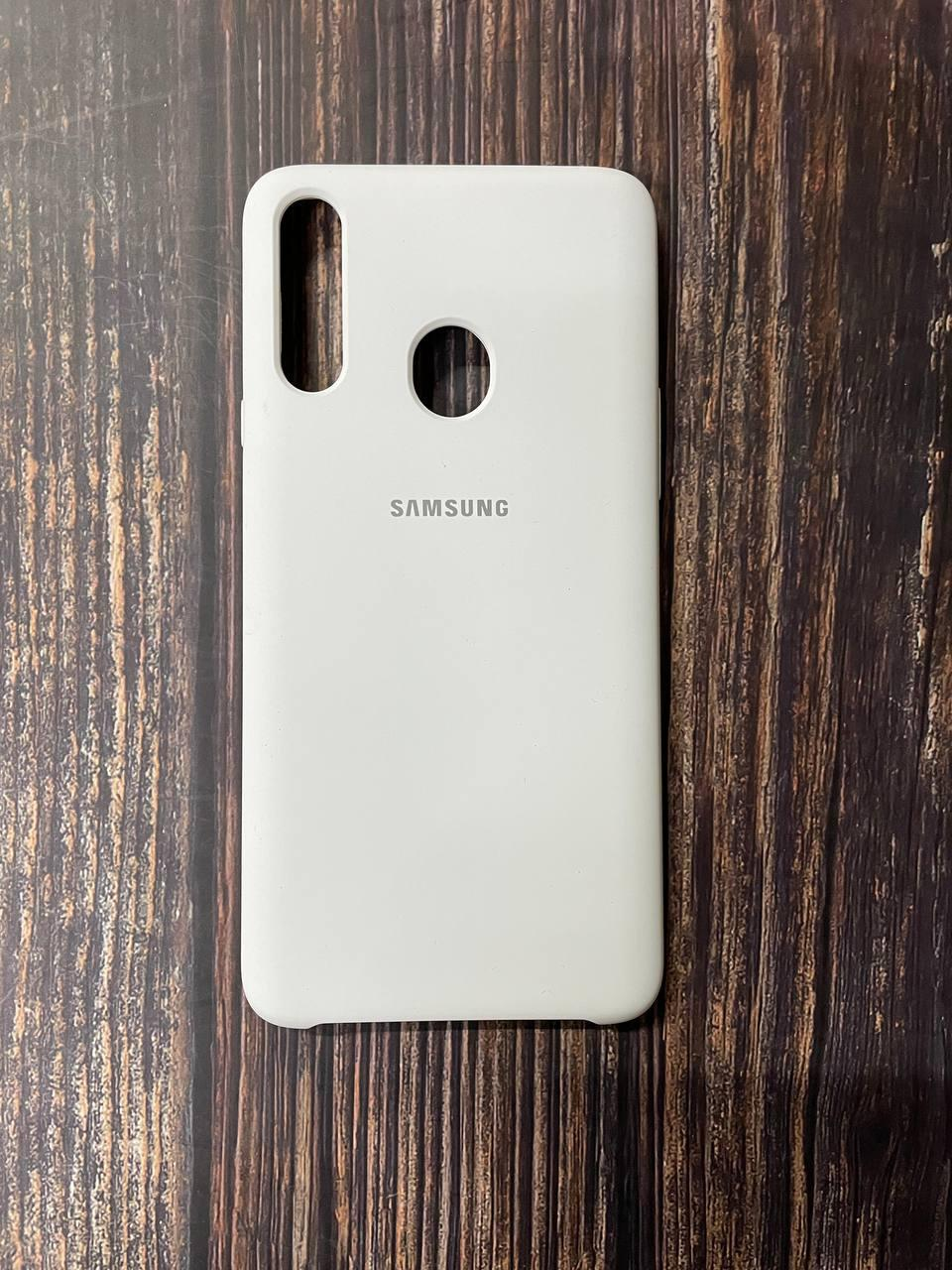 "Чехол Samsung A21s №9 ""Белый"" Silicon Case"