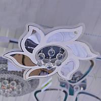 Люстра светодиодная цветок с хрусталем