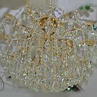 Люстра, 6 ламп, кришталева, золото, фото 1
