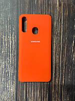 """Чехол Samsung A21s №13 """"Оранжевое настроение"""" Silicon Case"""