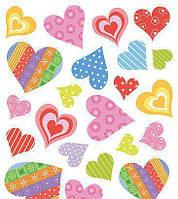 Наклейка, сердца, интерьерная Наш Декупаж, 2 листа