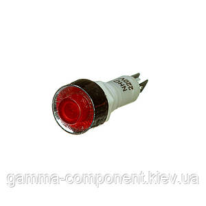 Індикаторна лампа червона NHC-10 220V