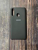 "Чехол Samsung A21s №18 ""Черный"" Silicon Case"