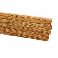 Плінтус для підлоги ПВХ плінтус для підлоги 2,5 м світло коричневий ностальжі (Тільки вантажні відділення)