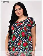 Красивая женская футболка лето размеры 54-64, фото 1