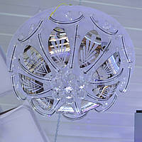 Люстра белая зеркальные вставки 5 led лампы
