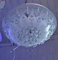 Люстра белая хрустальная 6 ламп