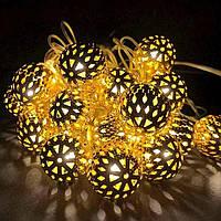 Гірлянда кулька золото
