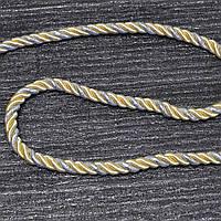 Шнур декоративный для натяжных потолков, жёлтый серебро, 11 мм