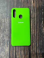 """Чехол Samsung A21s  №31 """"Лайм"""" Silicon Case"""