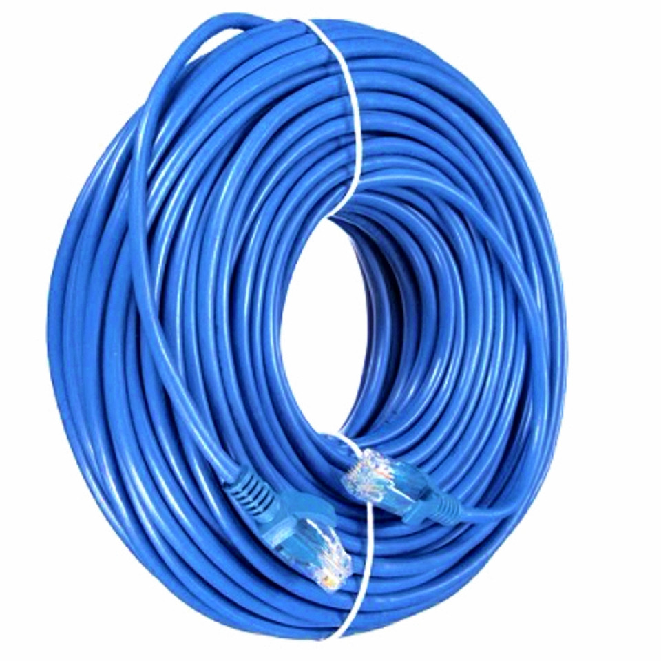 Патч-корд 60 метров внутренний для интернета UTP CAT 5 RJ-45 Ethernet Сетевой кабель витая пара LAN