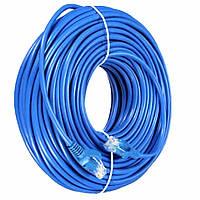 Патч-корд 60 метров внутренний для интернета UTP CAT 5 RJ-45 Ethernet Сетевой кабель витая пара LAN, фото 1