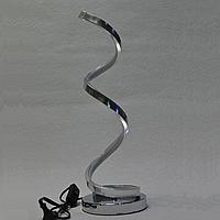 Лампа настольная, LED ночник, хром