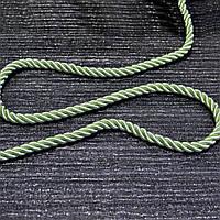 Шнур декоративный для натяжных потолков салатовый однотонный, 11 мм