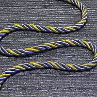 Шнур декоративный для натяжных потолков серое золото, 14 мм