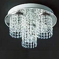 Люстра хрустальная серебро 3 лампы