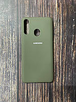 "Чехол Samsung A21s №34 ""Темная олива"" Silicon Case"