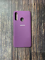 "Чехол Samsung A21s №45 ""Пурпурный"" Silicon Case"