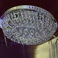 Люстра хрустальная серебро 4 лампы