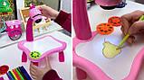 Детский стол проектор для рисования с подсветкой  Стол детский мольберт Baby для рисования РОЗОВЫЙ, фото 4