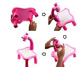Детский стол проектор для рисования с подсветкой  Стол детский мольберт Baby для рисования РОЗОВЫЙ, фото 6