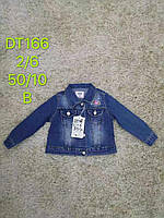 Джинсова куртка-піджак для дівчаток S&D 2-6 років