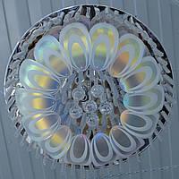 Люстра зеркальная хромовая хамелеон 8 ламп есть пульт